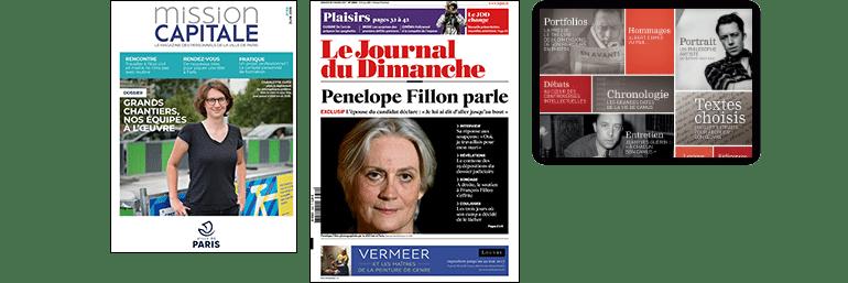 Couvertures de publications print et numériques
